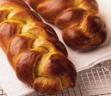 Jewish bread is a plaited loaf called challah. ©iStock