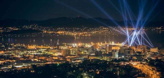 Modern Hobart at night. © iStock