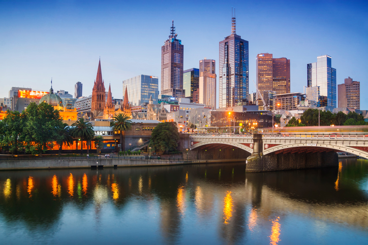 City skyline across the Yarra River. © iSock