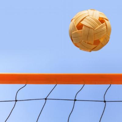 Net takraw is a bit like volleyball. ©Getty