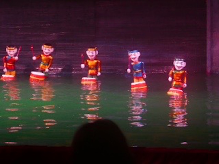 A water puppet 'band' performing. ©kidcyber