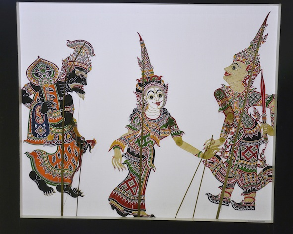 Thai shadow puppets are colourful, but the colours aren't seen during the puppet show because the light will be behind them. ©Getty
