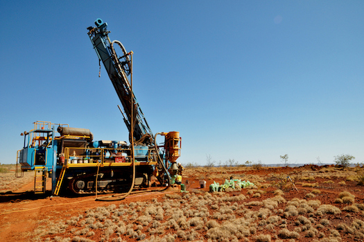 This is a drill rig. The drill will be made with diamond and will be used to cut through rock ©iStock