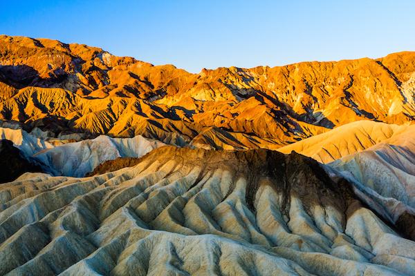 Zabriskie Point in Death Valley, USA. ©Getty