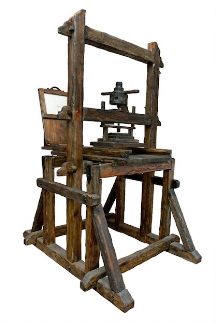 An old style printing press © iStock