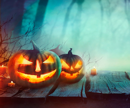 A carved pumpkin with a light inside make a scary Jack-O-Lantern ©iStock