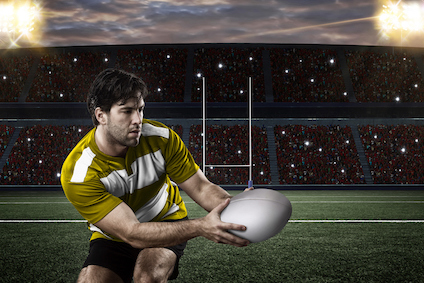 When a player kicks for a goal, the ball must pass between the posts and above the crossbar. ©iStock