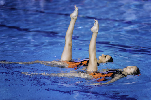 Artistic swimming by two swimmers is called 'a duet' ©iStock