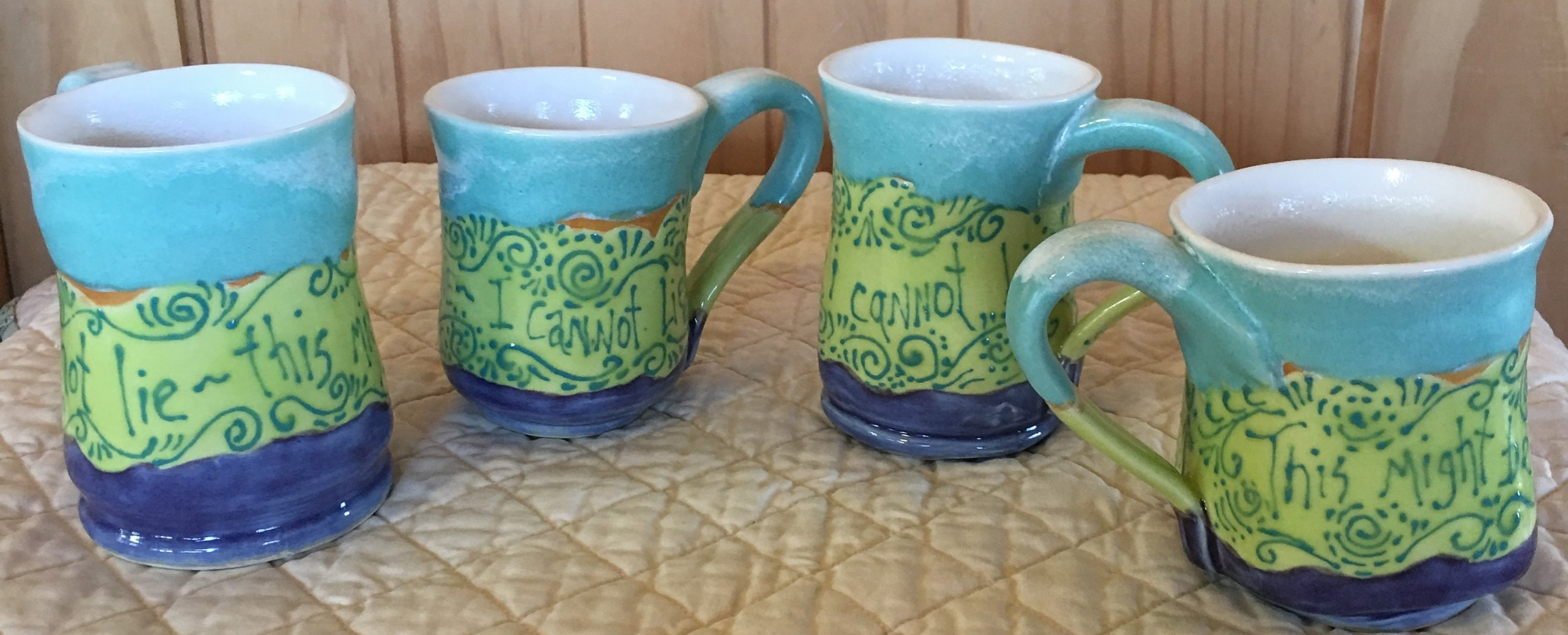 """Mugs: """"I Cannot Lie...This Might Be Wine""""  $35 ea"""