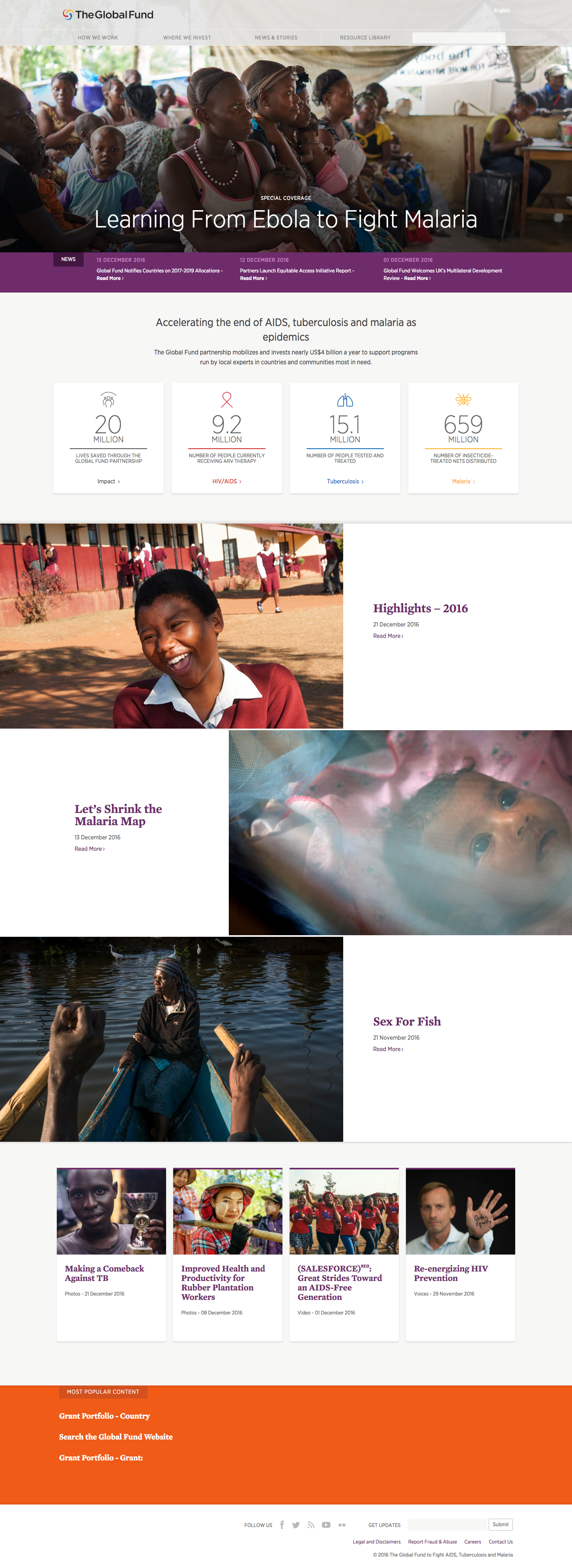 The new Global Fund website