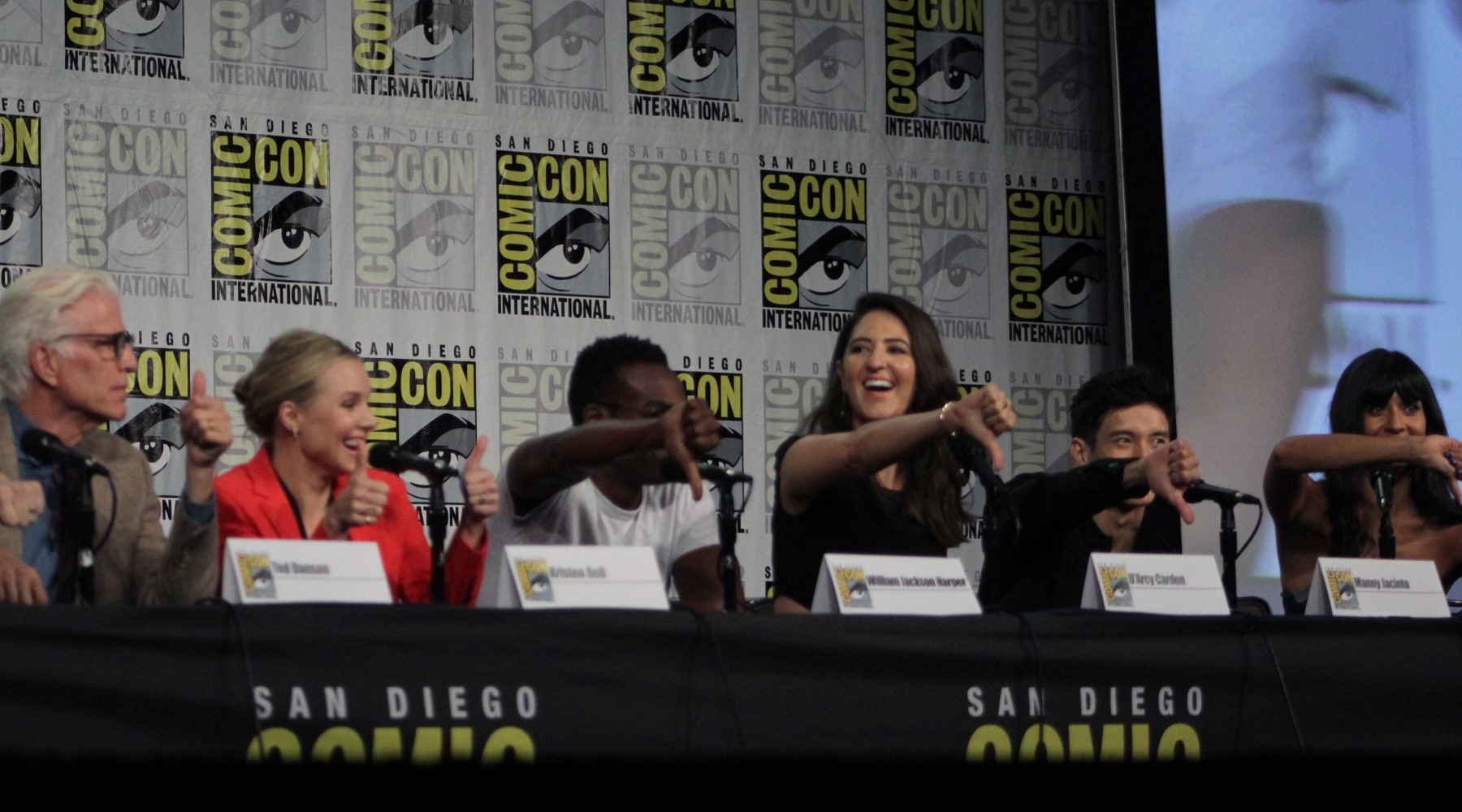 The Good Place  cast at San Diego Comic Con 2018 |  Wikimedia Commons