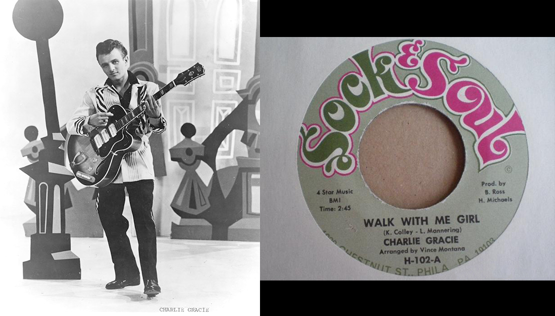 Charlie Grace and his 'Walk With Me Girl' 45 Record