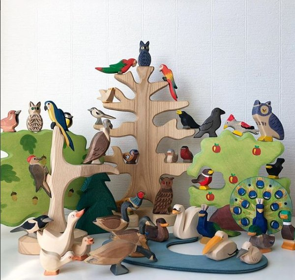 Heirlom carved wooden toys - We have a set of these wooden animals that my family gifted us last year (shout out to my sister Kelly for organizing that). They are so beautiful and absolutely worth the price tag, these are the type of toys that can be handed down generation to generation.