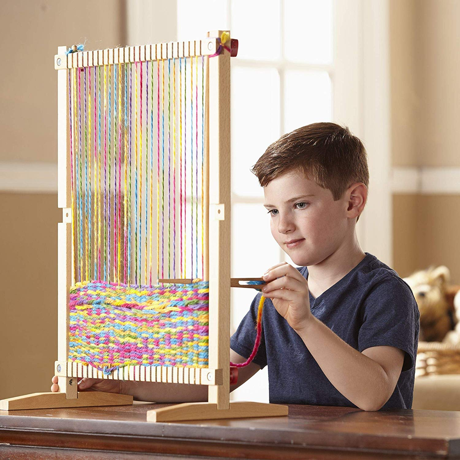 Weaving loom - Teaching kids handicrafts like weaving, knitting or needlework is so beneficial to them in many ways.