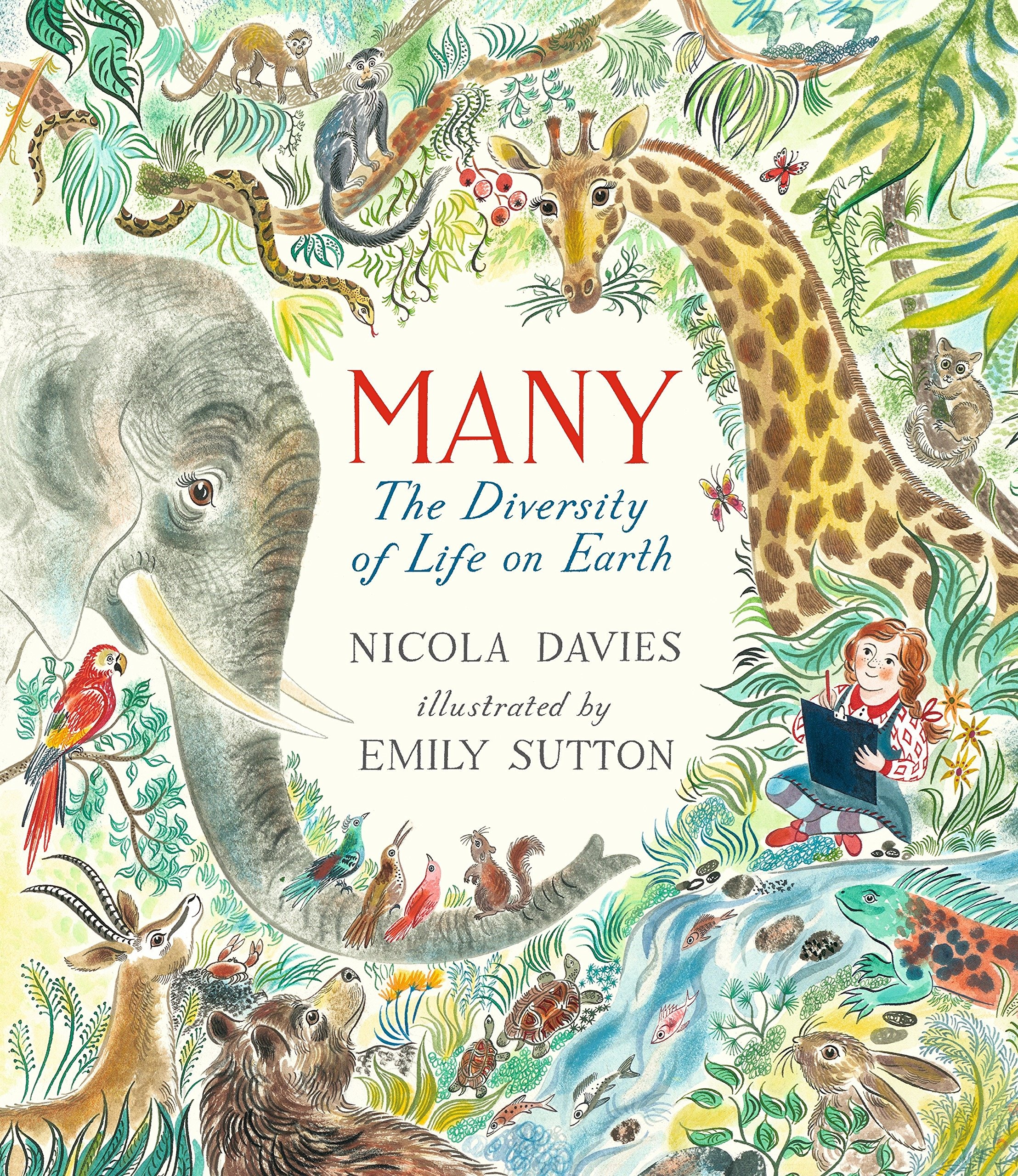 Many the diversity of life on earth - The same author of the first book mentioned, Nicola Davies. Oh my, this book is beautifully illustrated and carries a short and simple, yet powerful message along with perfectly struggles together words that help kids grasp the concept of life.