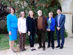 Guest speakers at OWF's 3-29 community forum (l-r): Rebecca Benard; Deborah Pendrey; Jena Collins; Michael Addison; Karen Kaminsky; Haady Lashkari.