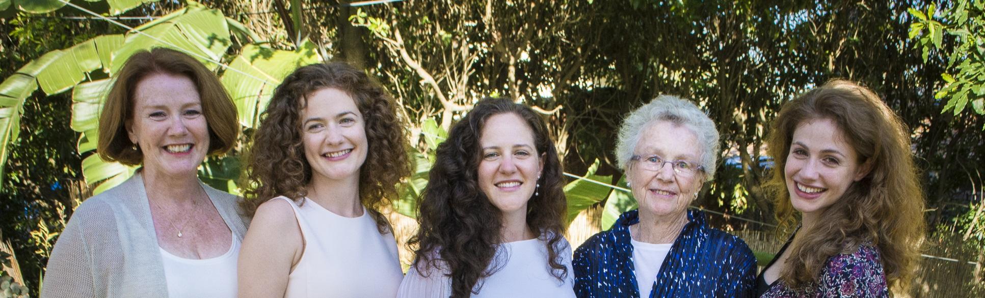 Three generations of O'Connor women