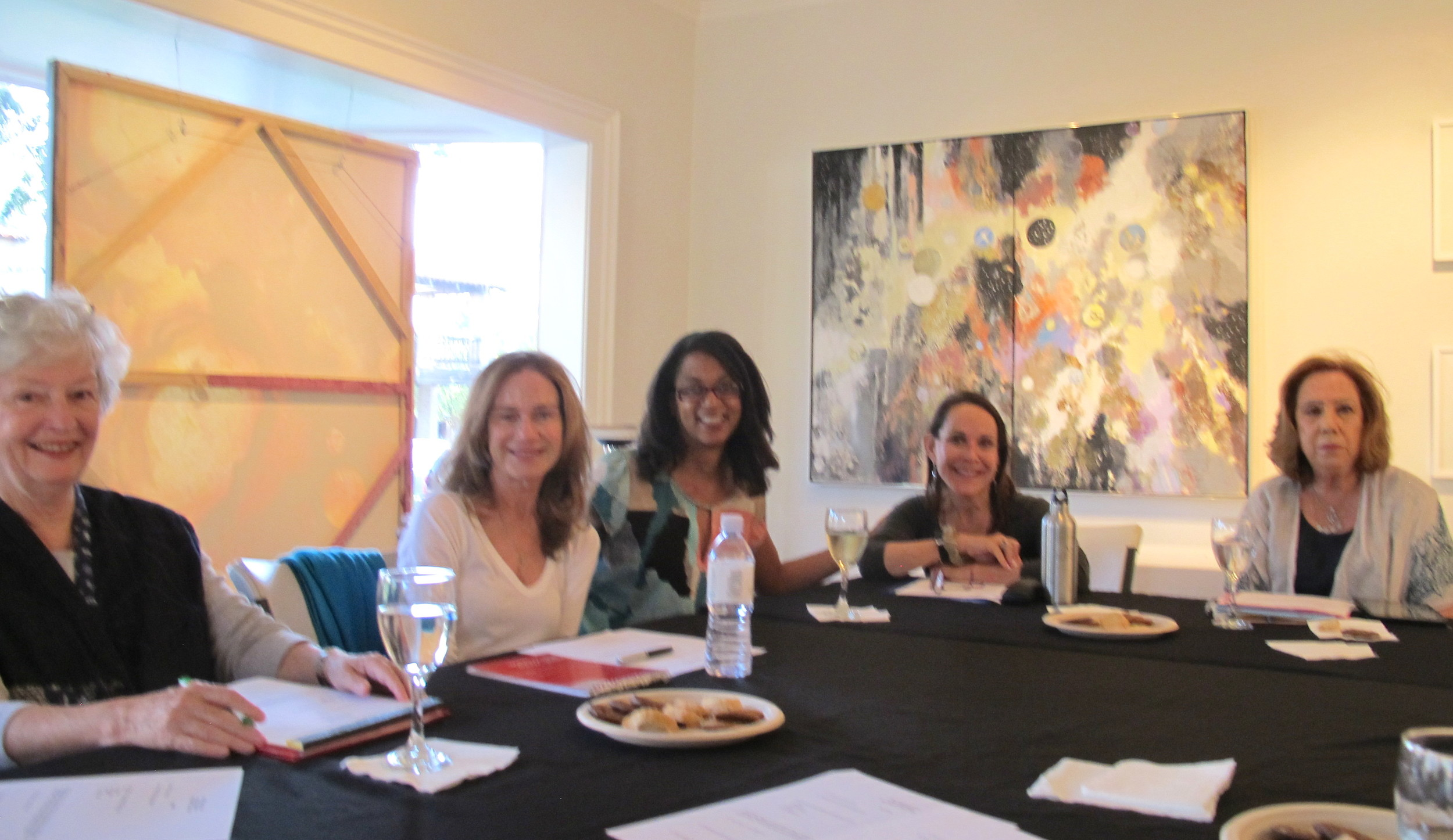 The Ojai Women's Fund Grants Committee met at the Porch Gallery in May to review the 2016 grant applications.