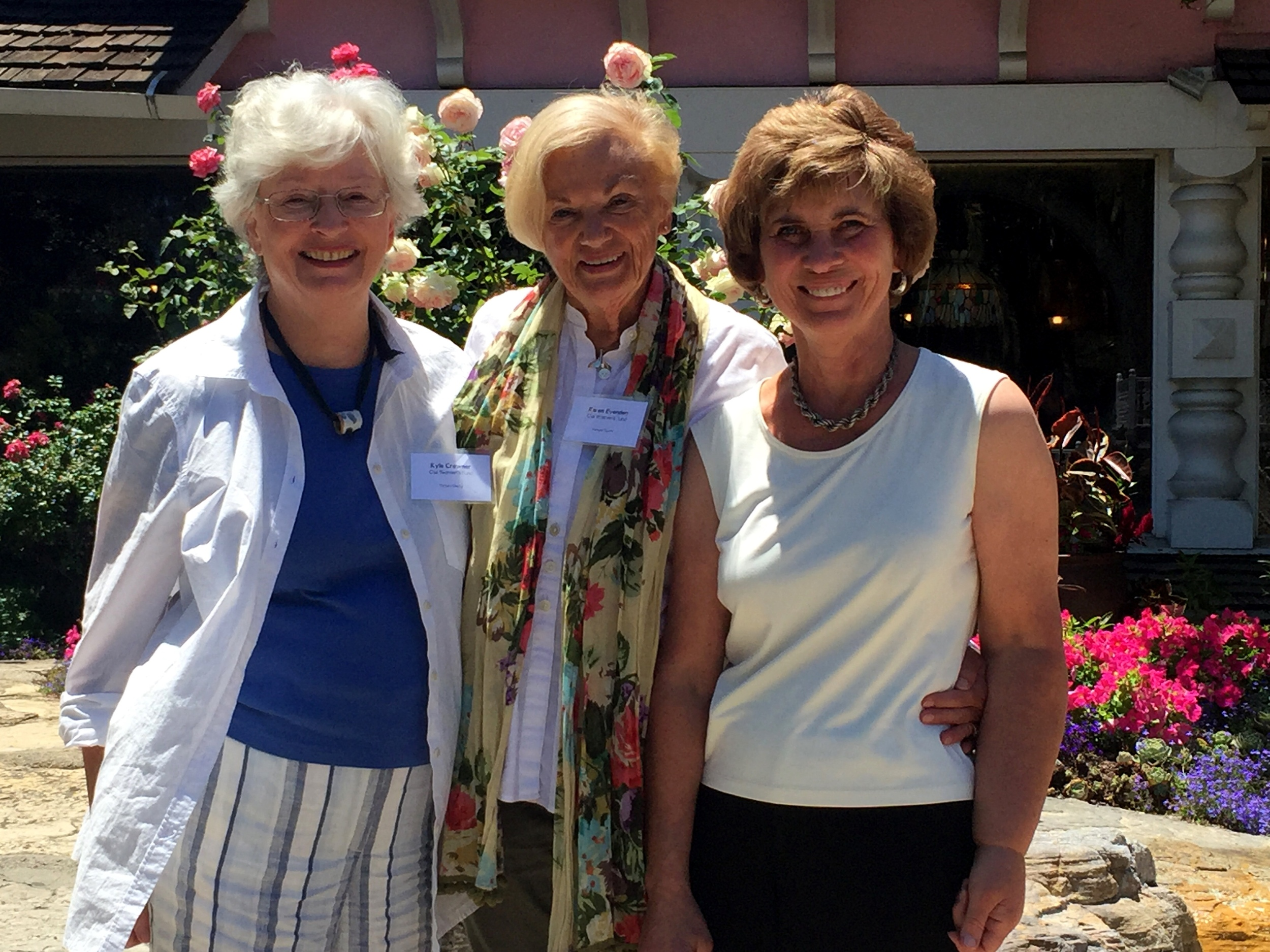 Ojai Women's Fund leaders Kyle Crowner, Karen Evenden, and Peggy Russell