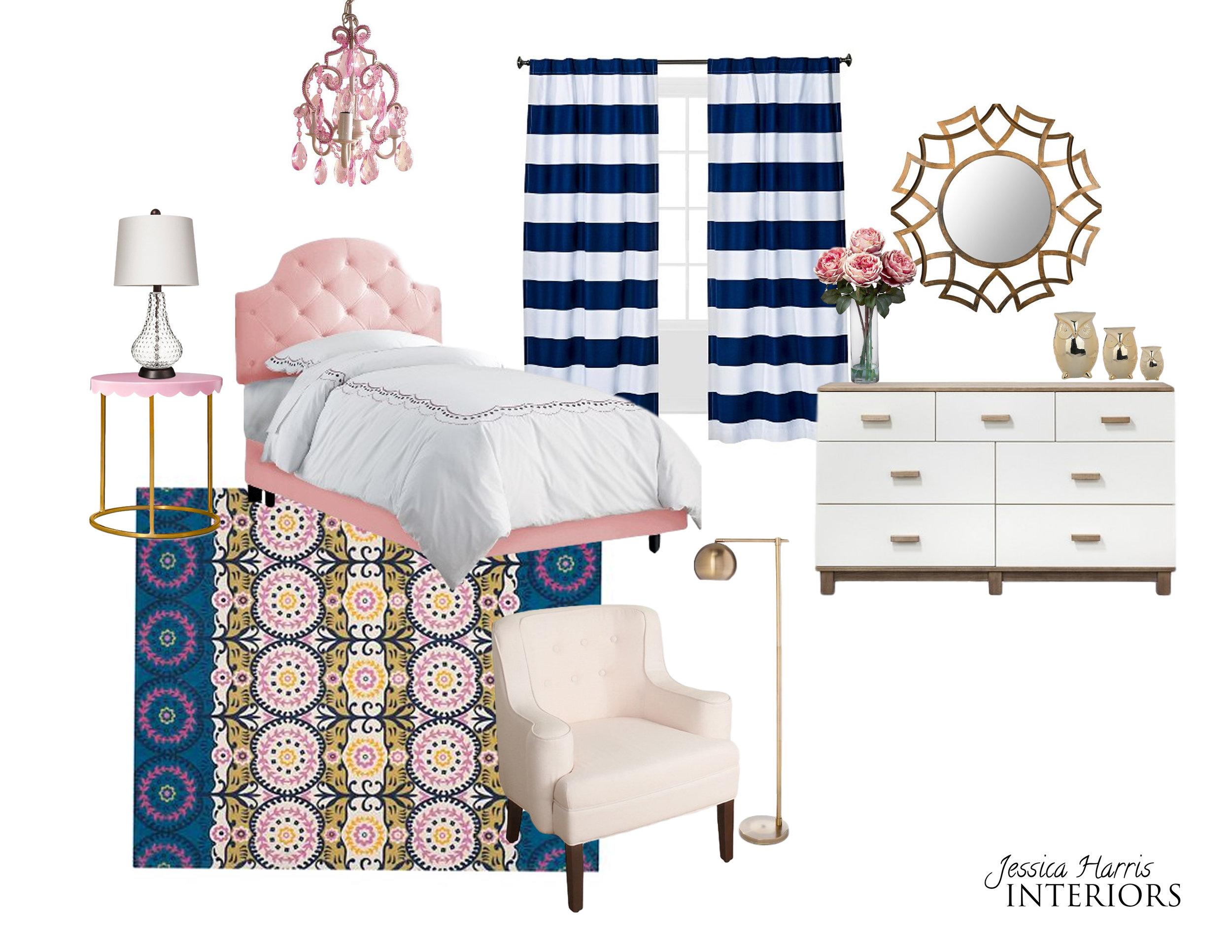 Modern Glam Teen Bedroom