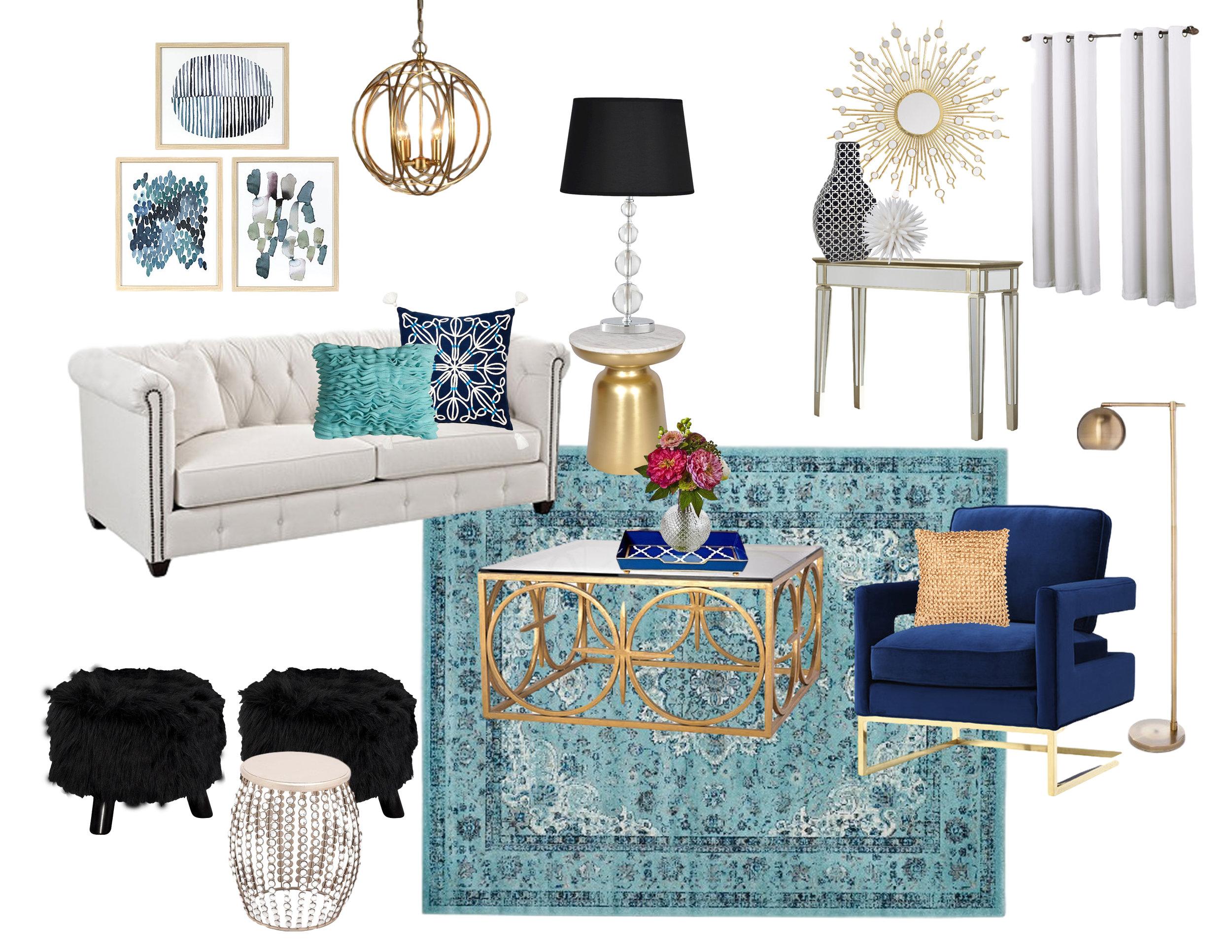 Contemporary Glam Living Room