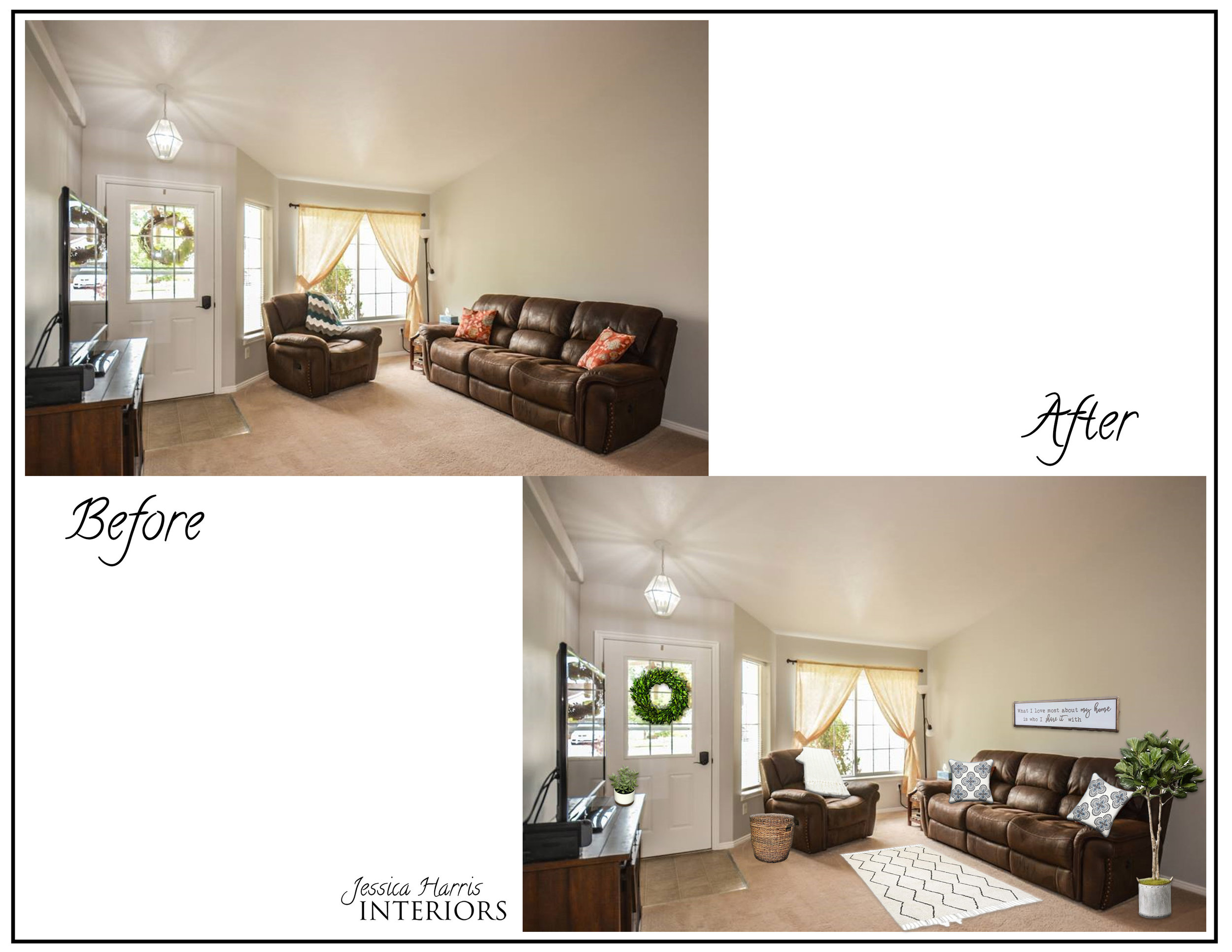 Virtual Staging to existing  furniture .