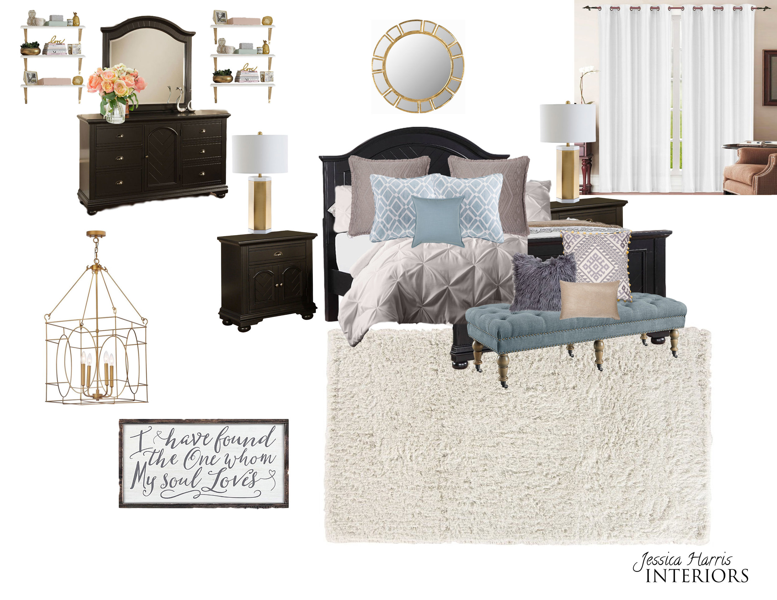 Refined Glam Master Bedroom