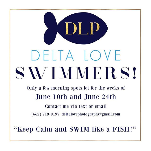 Only a few spots left open for Delta Love Swimmers this summer! Ages 3+ Contact me asap and we will get your on the calendar. So ready for swim lessons! #deltaloveswimmers