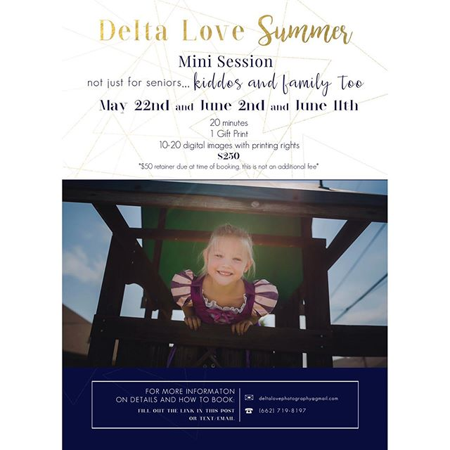 It's been a while BUT it's time for some family and kiddo #deltaloveminis sign up with the link in my profile! I'll be in touch shortly after. So excited! I've surely missed these. #deltalovephotography #summer2019 #mississippiseniorphotographer #mississippiphotographer #mississippideltaphotography #deltalovekiddos