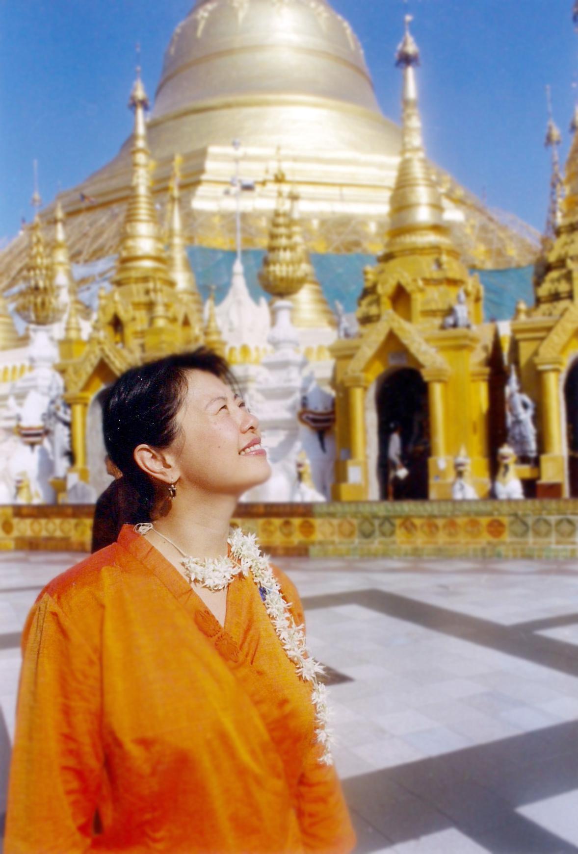 Yim Tom at Shwedagon Pagoda in Yangon Myanmar