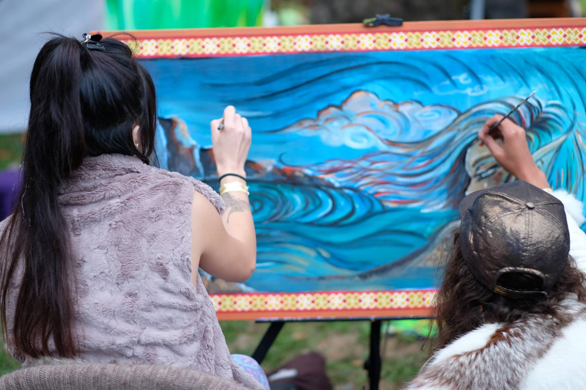 Live Painting with Lily Le at Imagine Music and Arts Festival