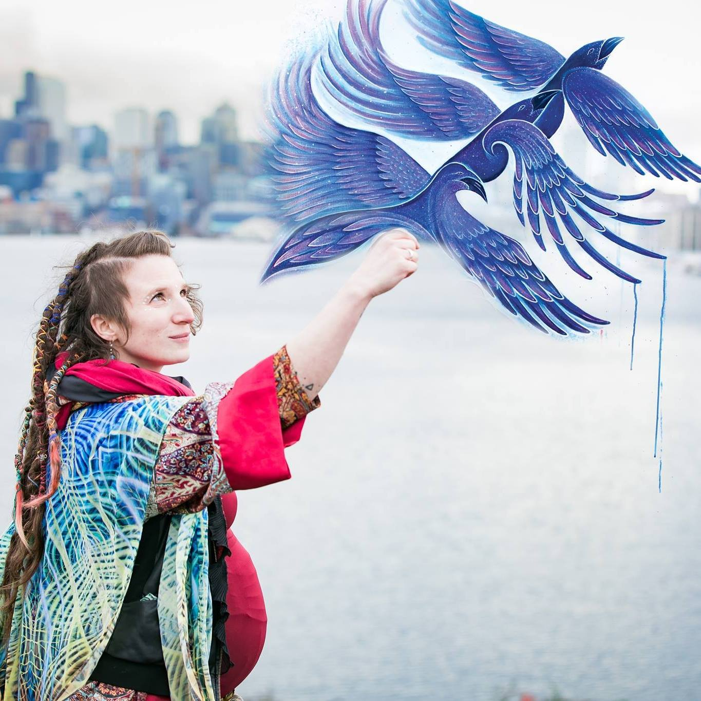 NATALIE DOUD - Natalie is an artist, aerialist, educator and mother with a passion for teaching and community building. She believes in the power of art to uplift and transform lives. Natalie's artistic pursuits focus on the concept of flow, nature, identity and human interconnection. Her work explores themes of abstract energy, electromagnetism, anatomy and inner-space.