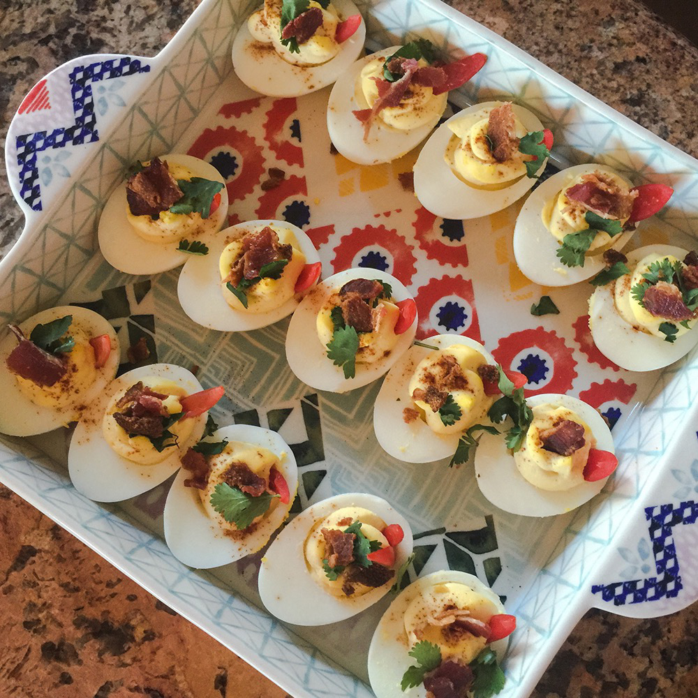BACON DEVILED EGGS ARE THE BEST DEVILED EGGS by Jen Fisch