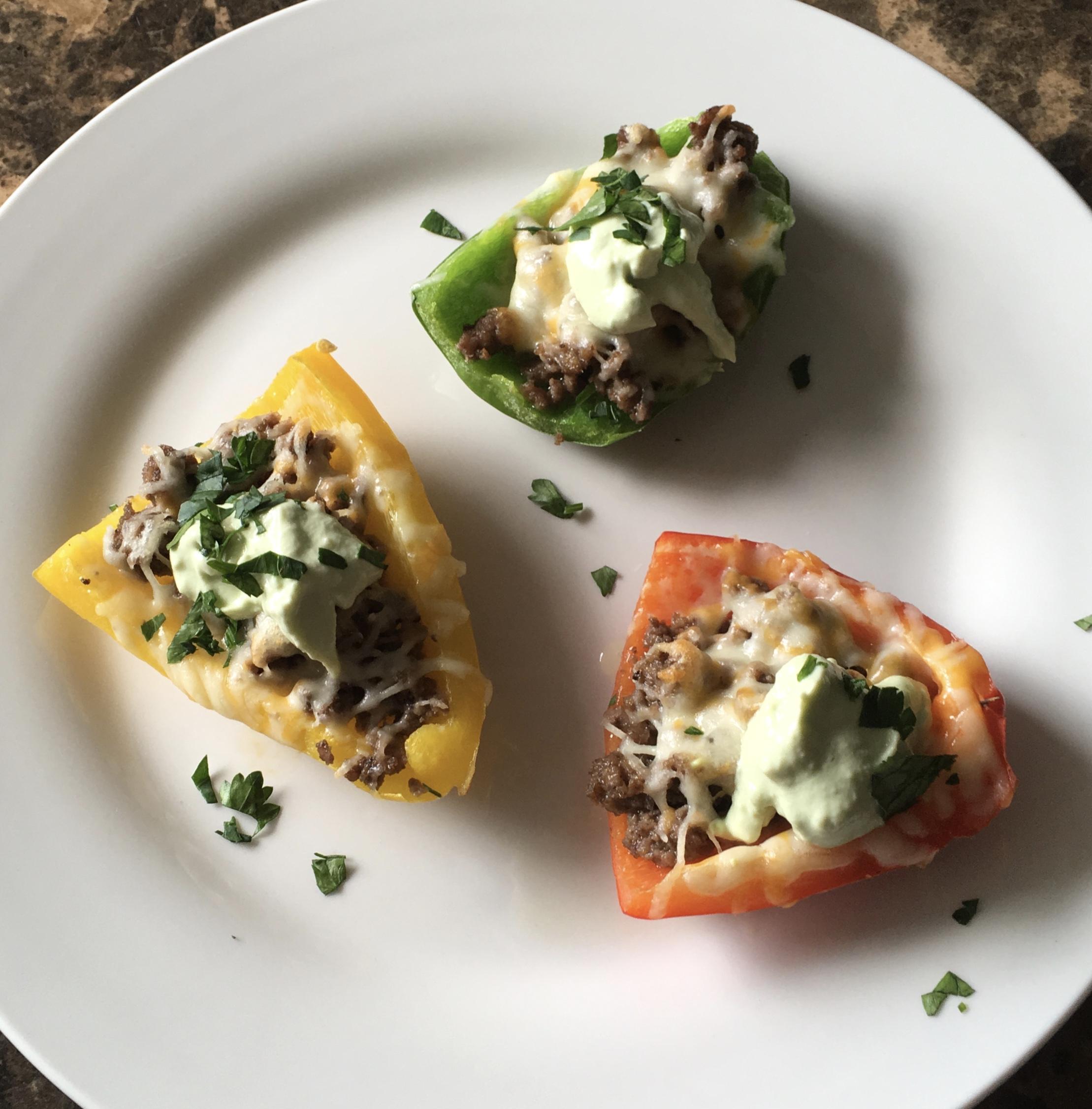 Keto Recipe Bell pepper potato skins