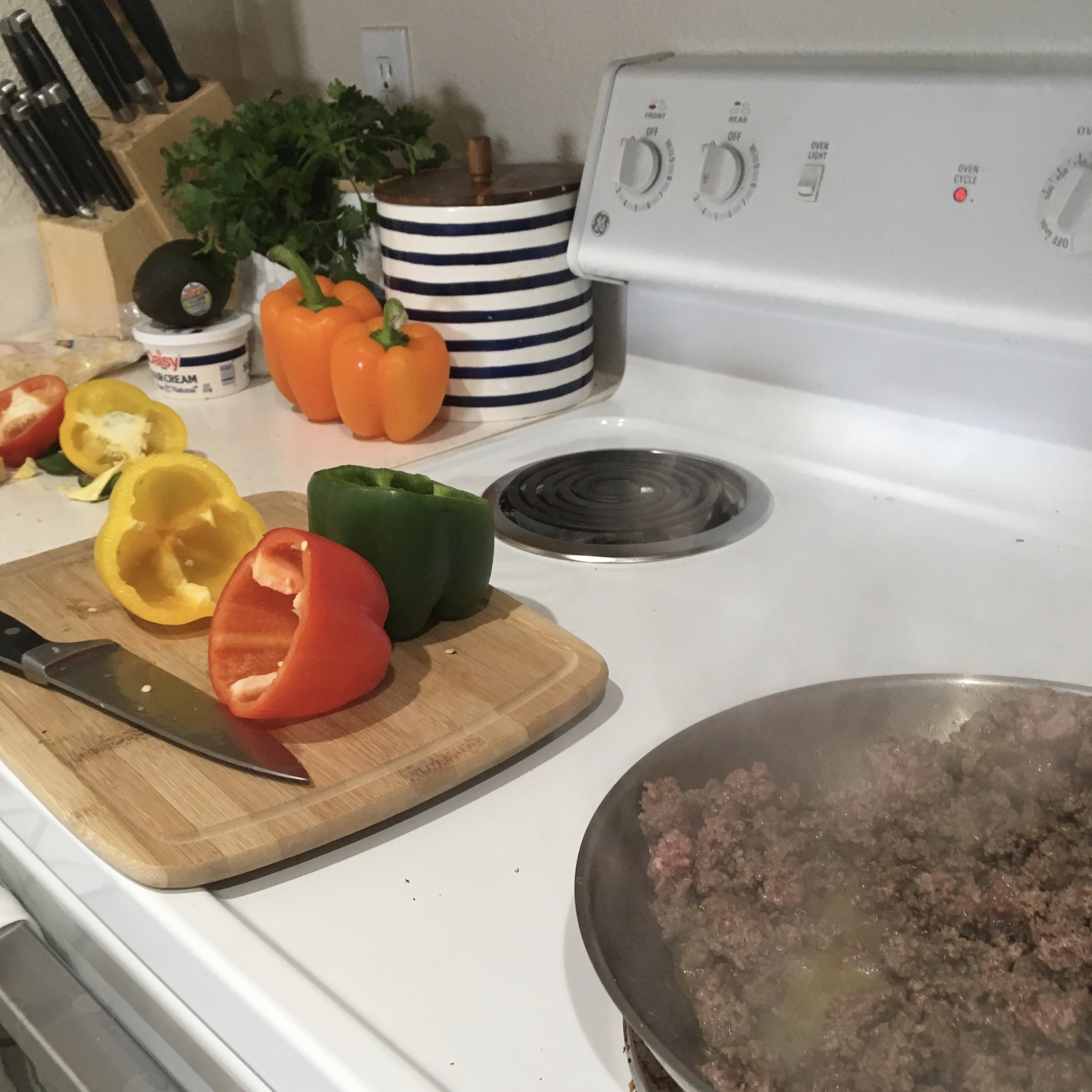 Keto Bell Pepper and Ground Beef