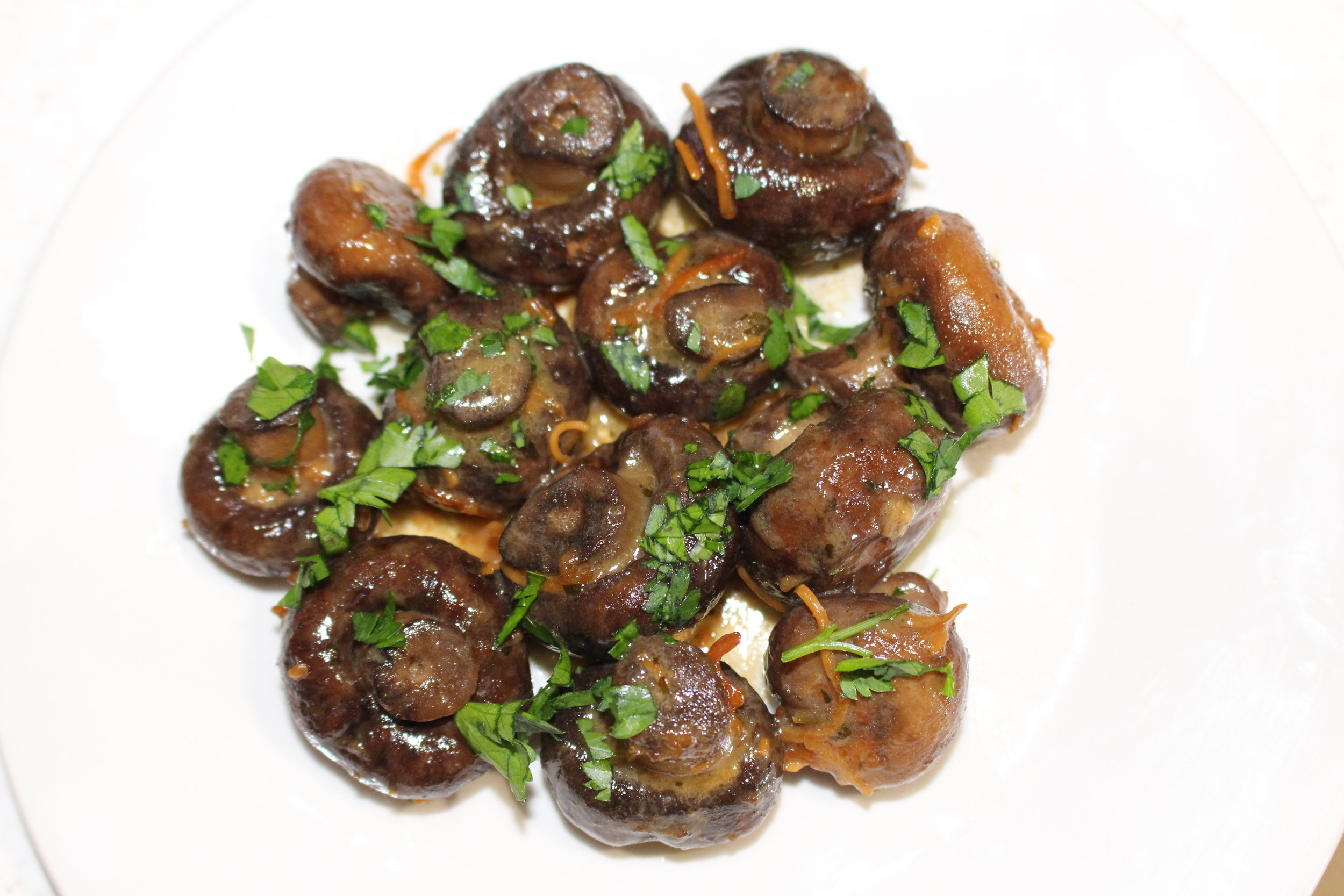 mushrooms and parsley keto in the city