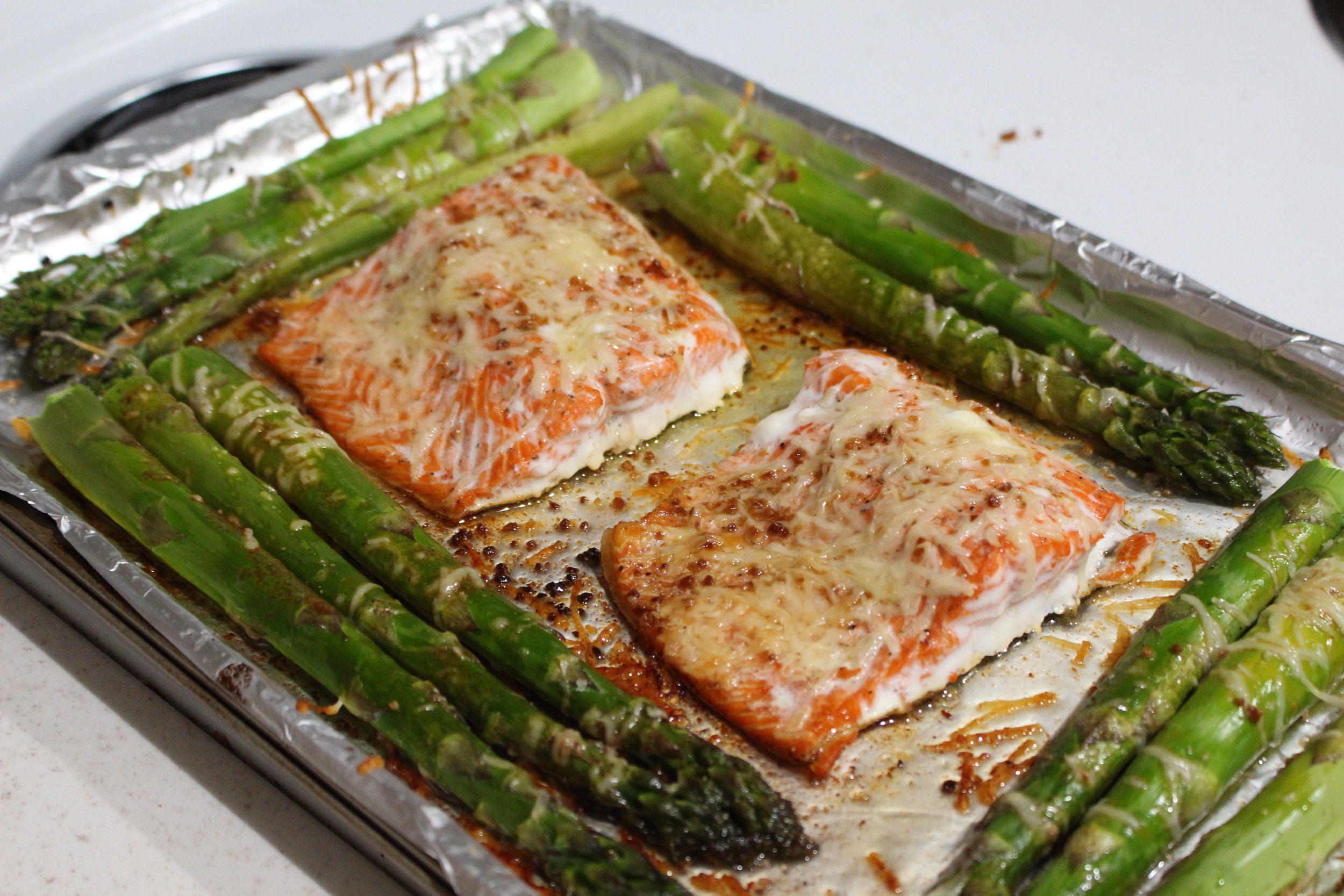 keto parmesan salmon