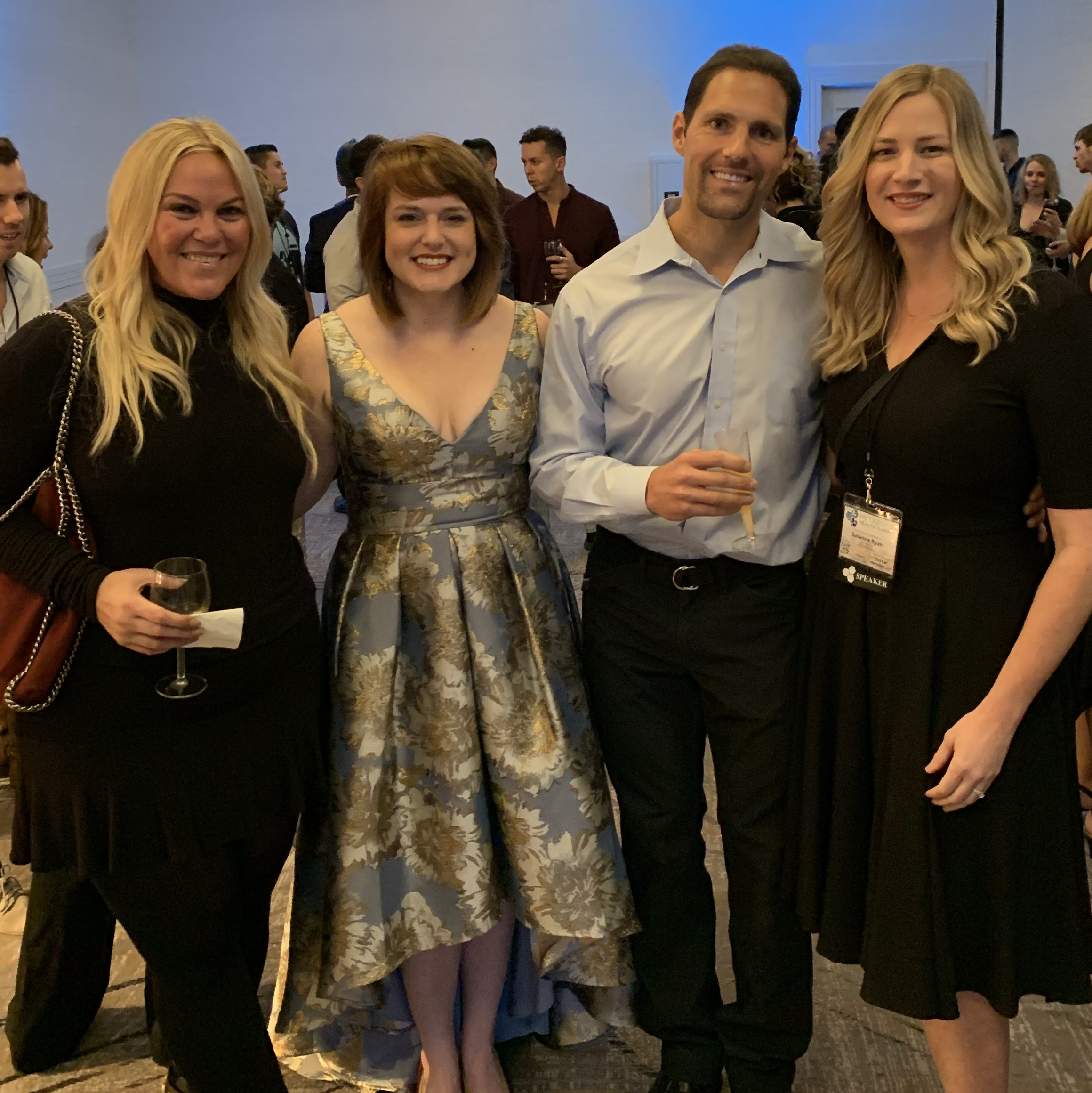 Me, Dr. Angela Poff, Dr. Dominic D'Agostino, and Suzanne