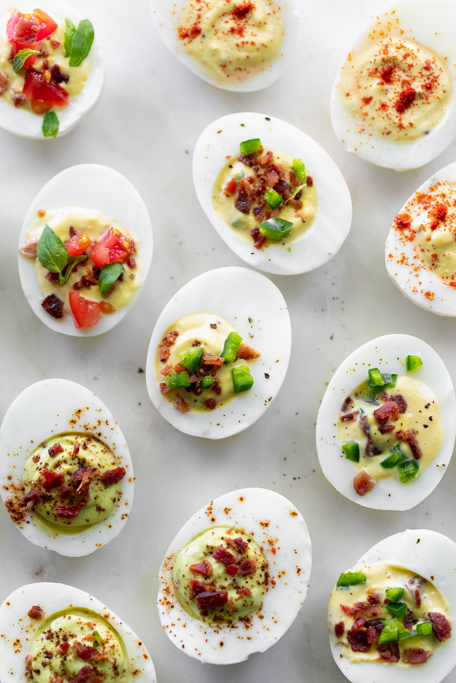 variations on deviled eggs