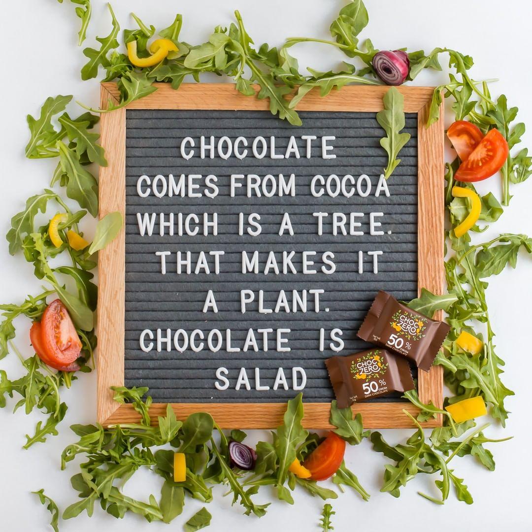 chocolate keto salad