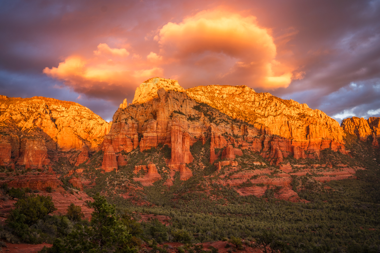 Sunset at Brins Mesa