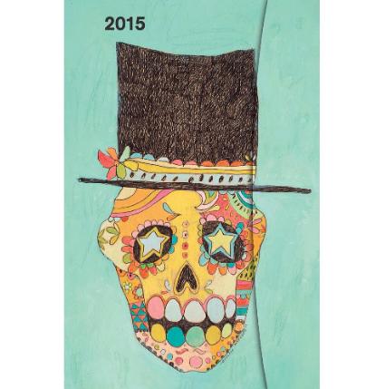2015 sugar skull weekly planner
