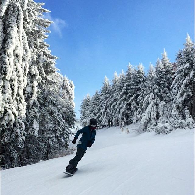 Snowboarding at Snowshoe