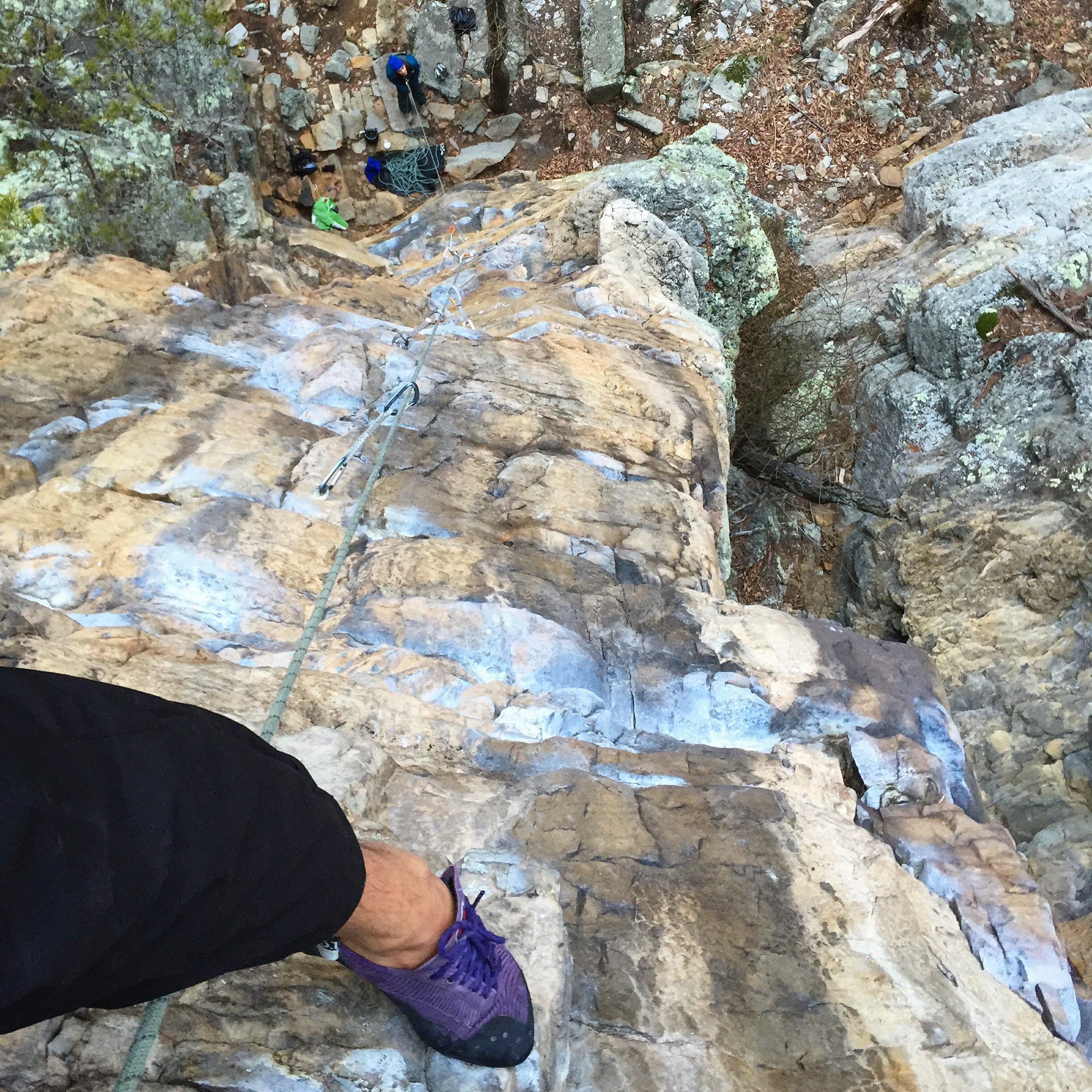 Climbing Franklin Gorge
