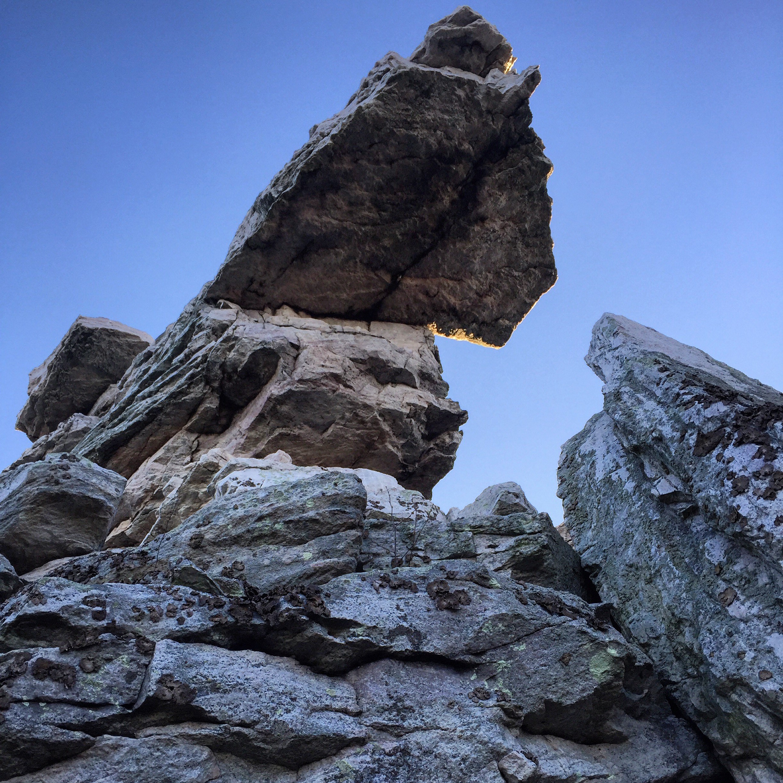 Start Rocks at the top of Massanutten