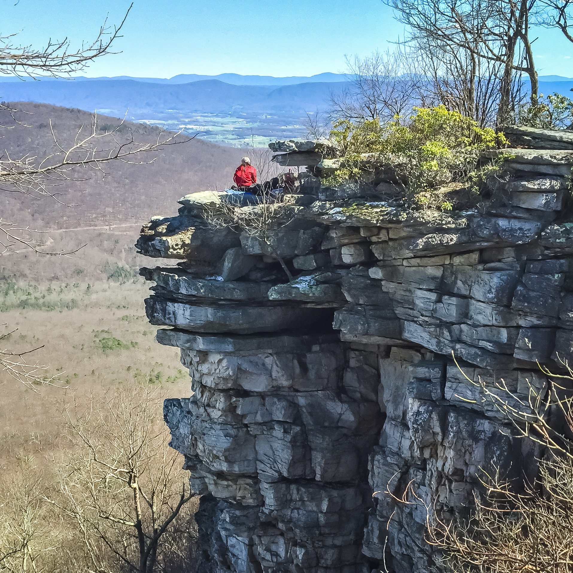 East view to Massanutten and Shenandoah mountains