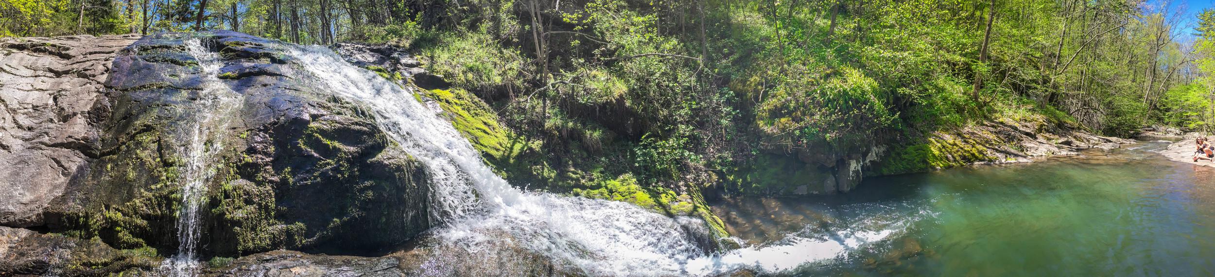 Waterfalls and pools