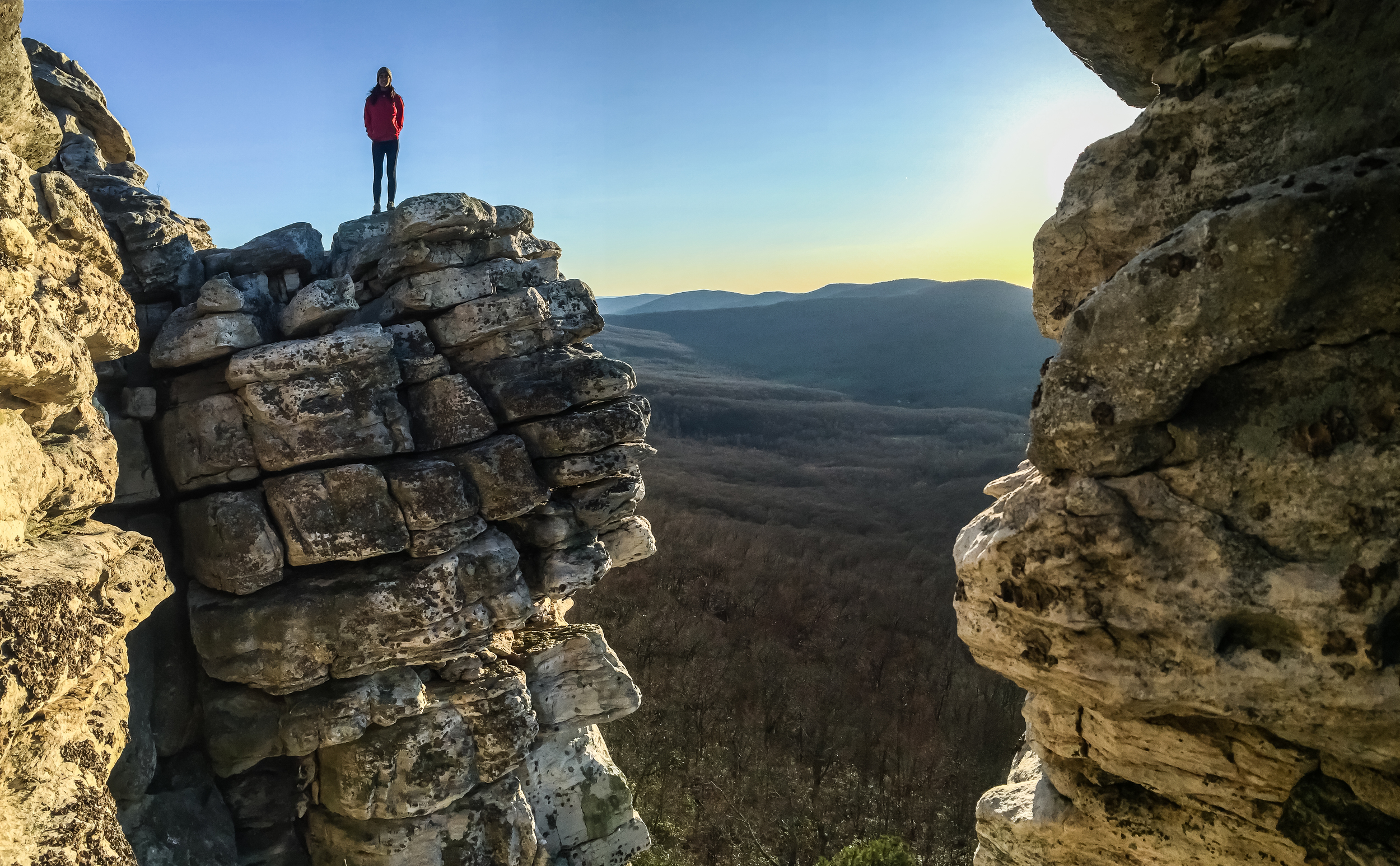 Sunset at Big Schloss, Virginia - West Virginia border