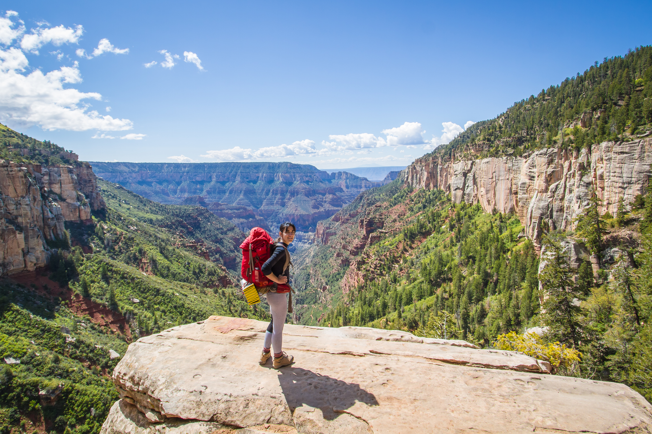 Starting our hike down - Coconino overlook