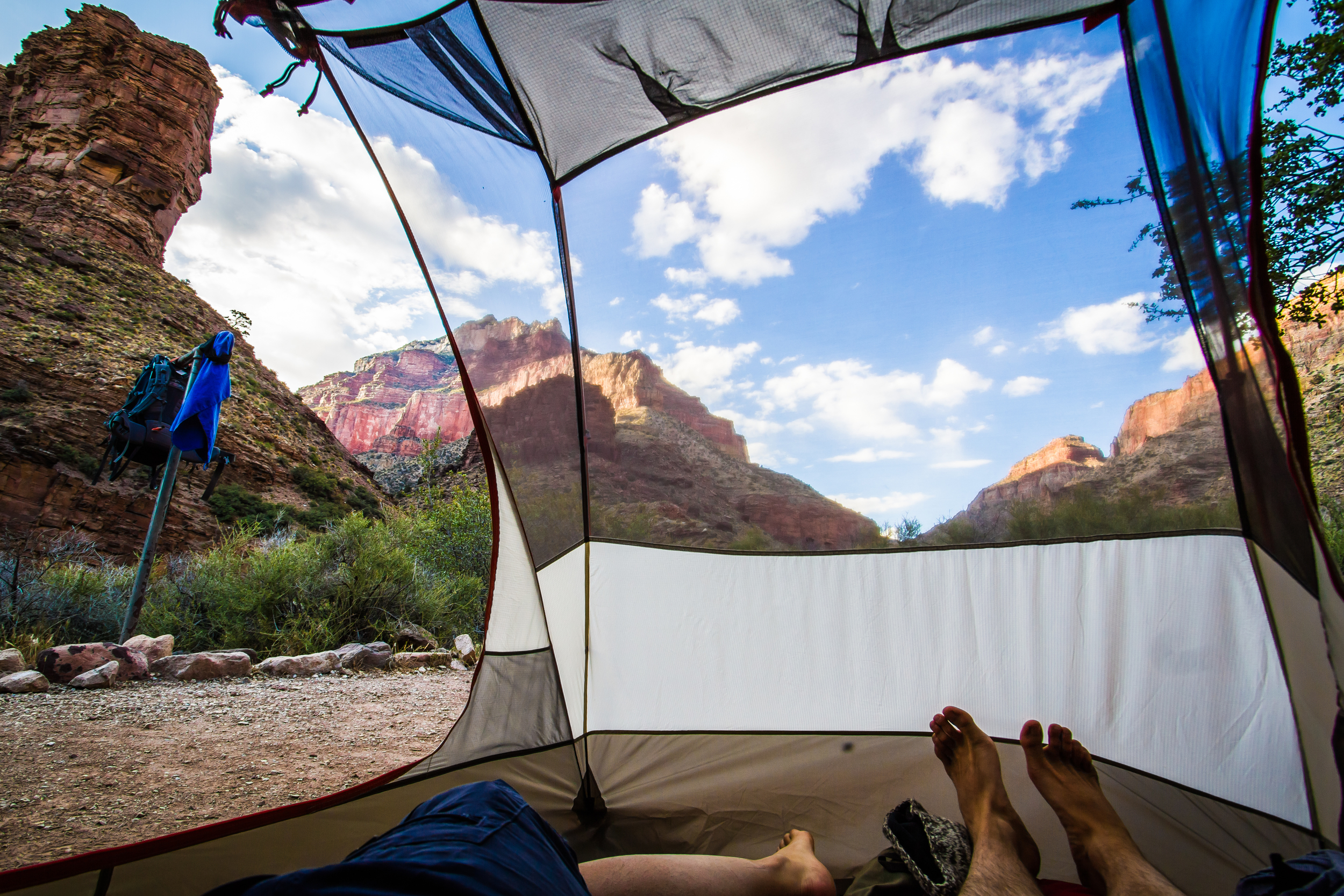 Camping in Cotton Wood campground